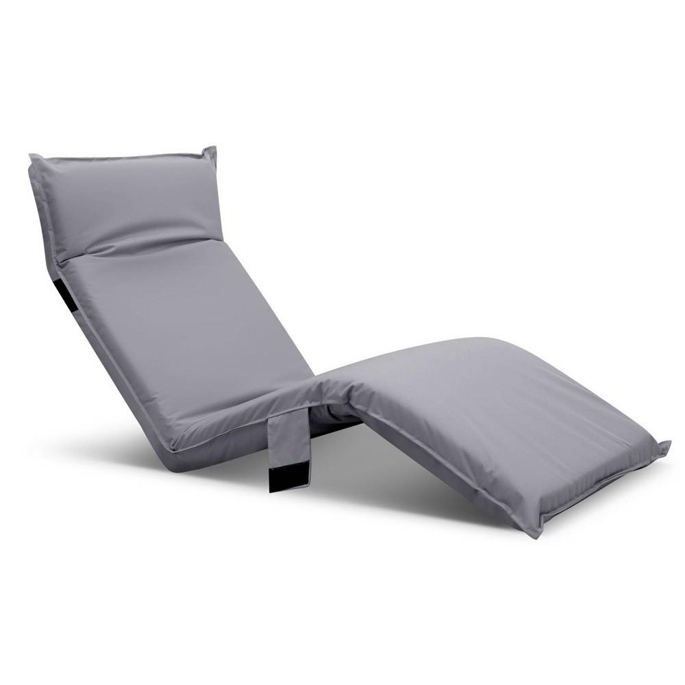Adjustable Beach Sun Pool Lounger - Grey