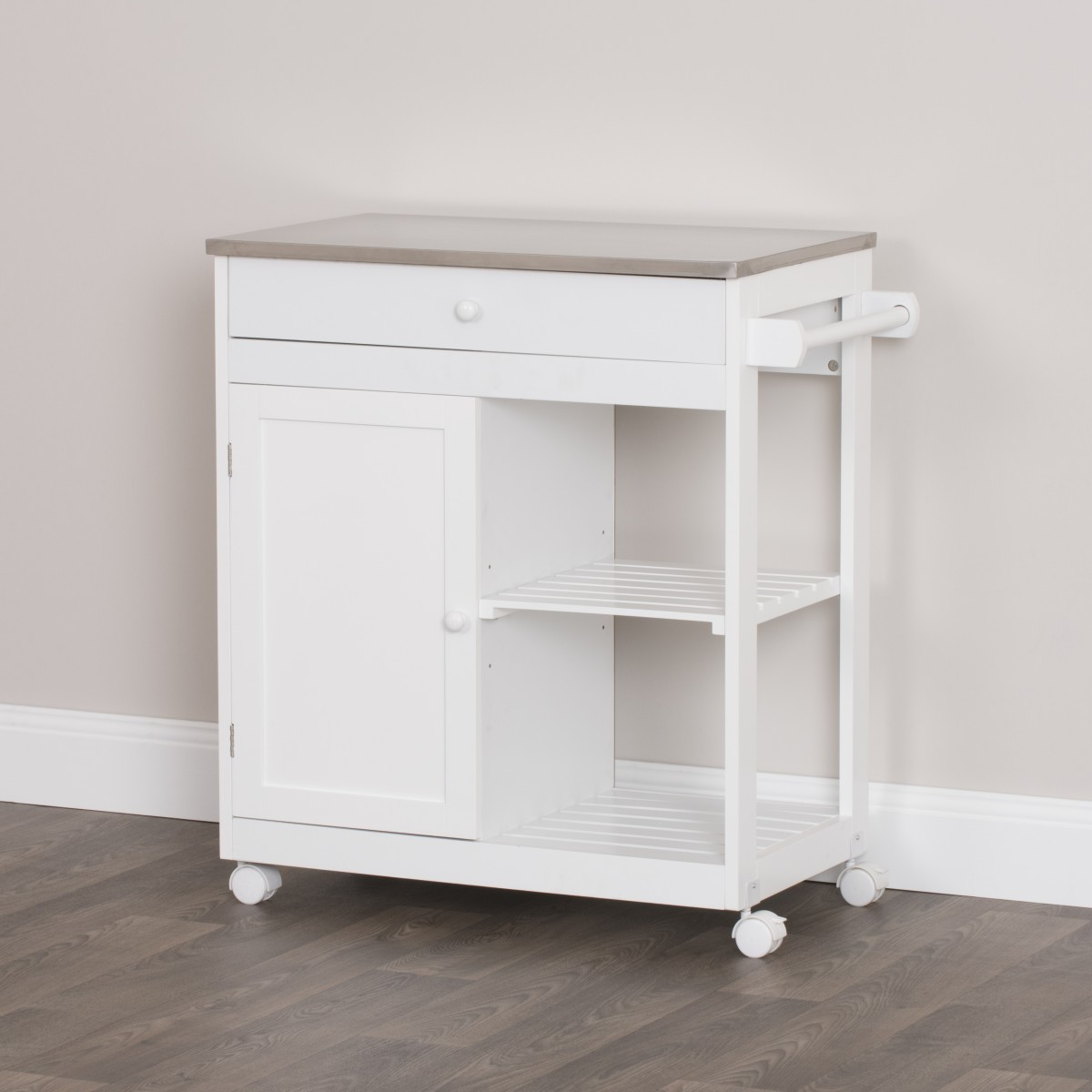 Kitchen Trolley With Stainless Steel Counter Top