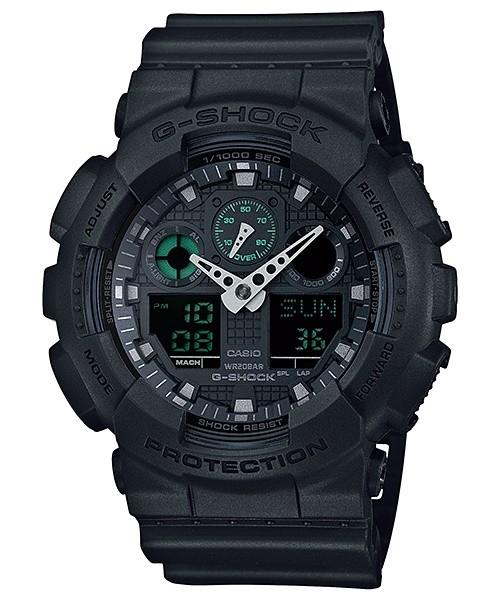Casio G-Shock Analog/Digital Mens Black Watch GA-100MB-1ADR