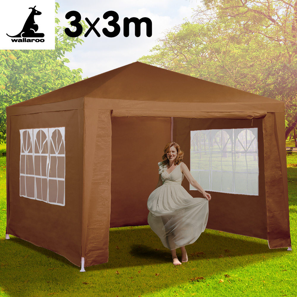 Wallaroo 3x3 outdoor event marquee Brown