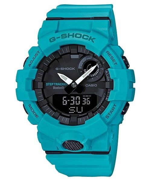Casio G-SHOCK Light Blue G-SQUAD Step Tracker Bluetooth Mens...