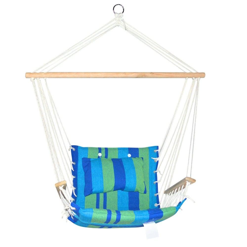 Hammock Swing Chair - Blue & Green