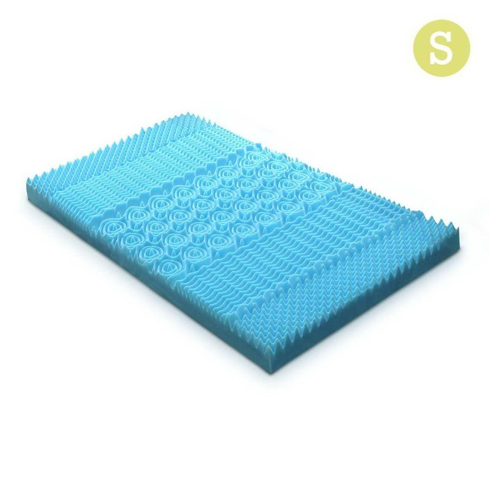 Single Size 5cm Thick Bamboo Mattress Topper - Blue