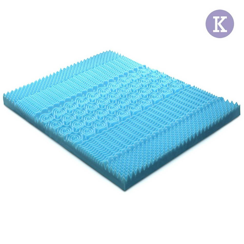 King Size 8cm Thick Bamboo Mattress Topper - Blue