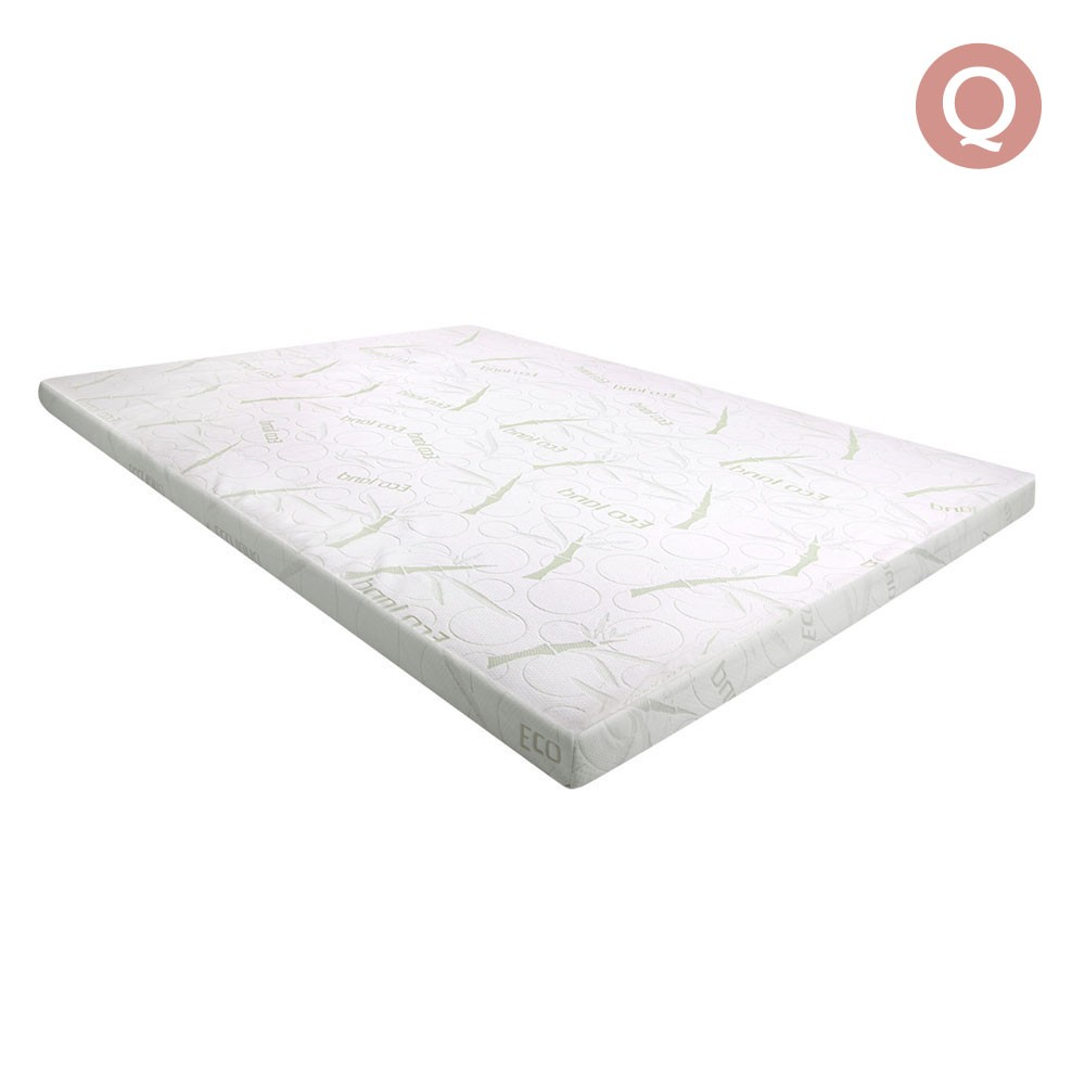 Queen Size 7cm Thick Bamboo Fabric Mattress Topper - White