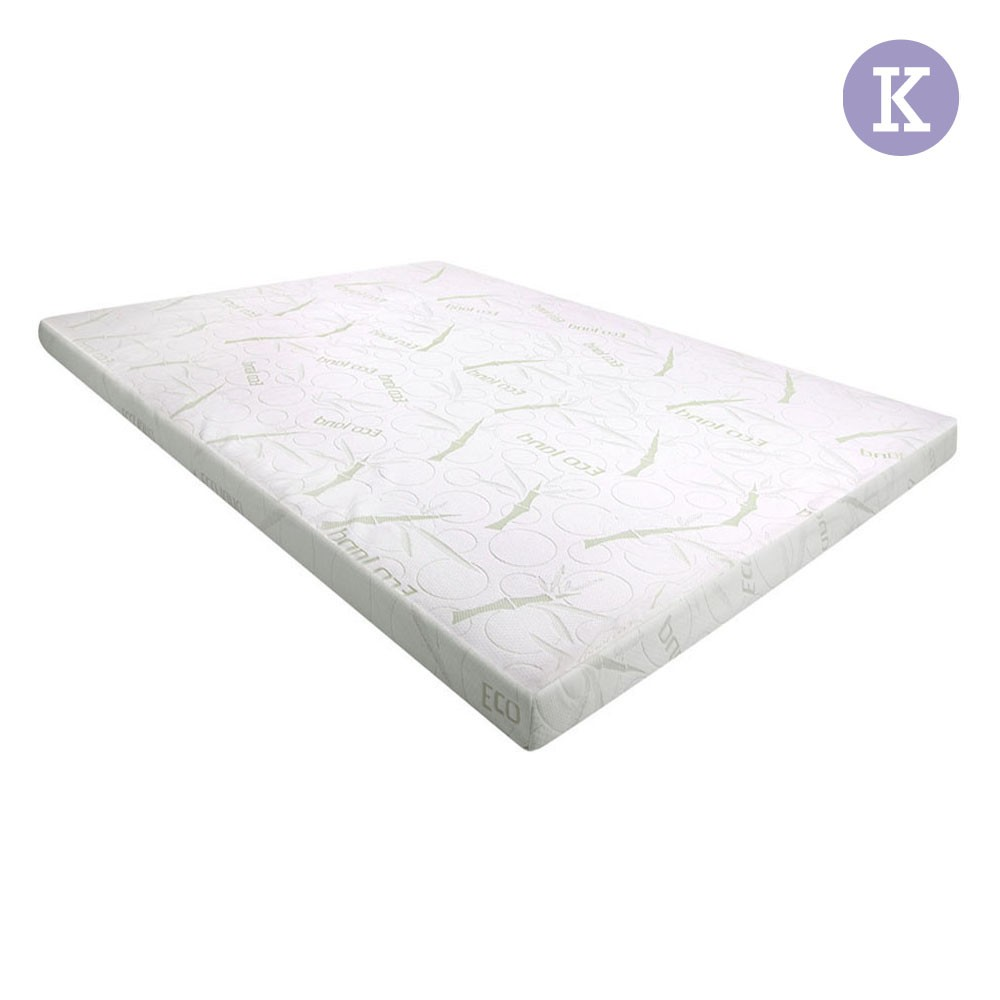 King Size 8cm Cool Gel Memory Foam Mattress Topper