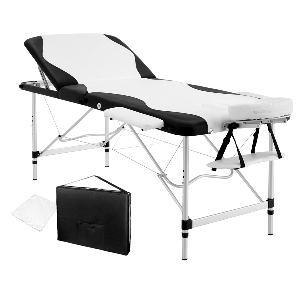 Professional Deluxe Folding Massage Table Black