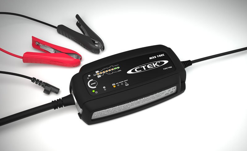 ctek mxs 10 ec 12v car battery charger with extended. Black Bedroom Furniture Sets. Home Design Ideas