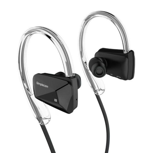 Simplecom NS200 Bluetooth Neckband Sports Headphones with NFC Black
