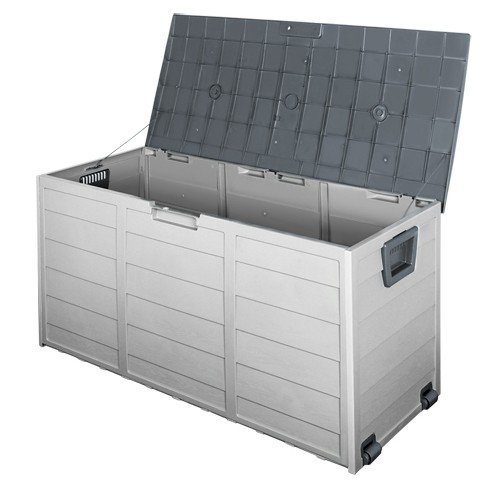 290L Outdoor Weatherproof Storage Box - Grey
