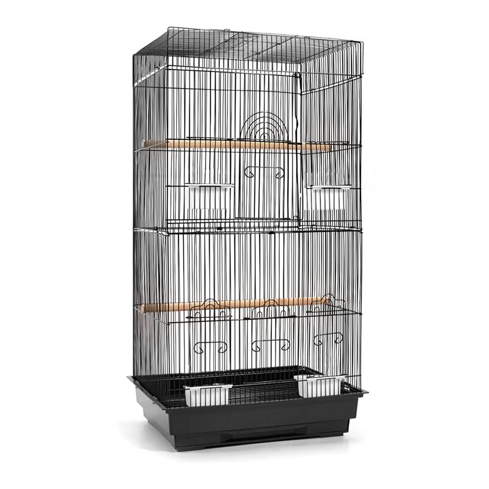 Medium Bird Cage with Perch - Black