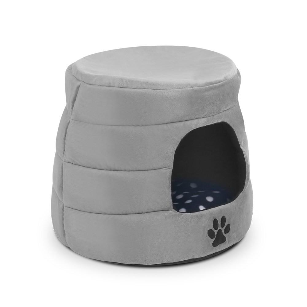 i.Pet Foldable Pet Bed - Grey