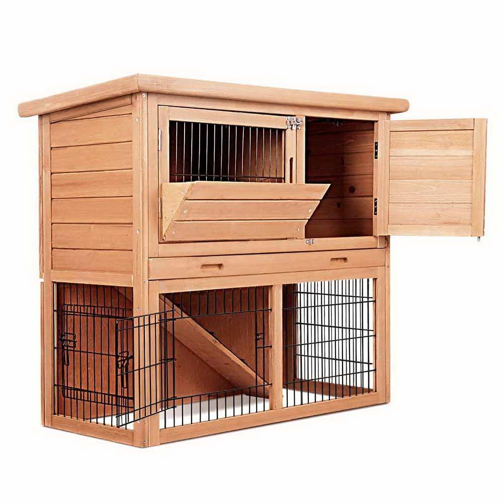 Rabbit Hutch Chicken Coop Cage Guinea Pig Ferret House - R078B