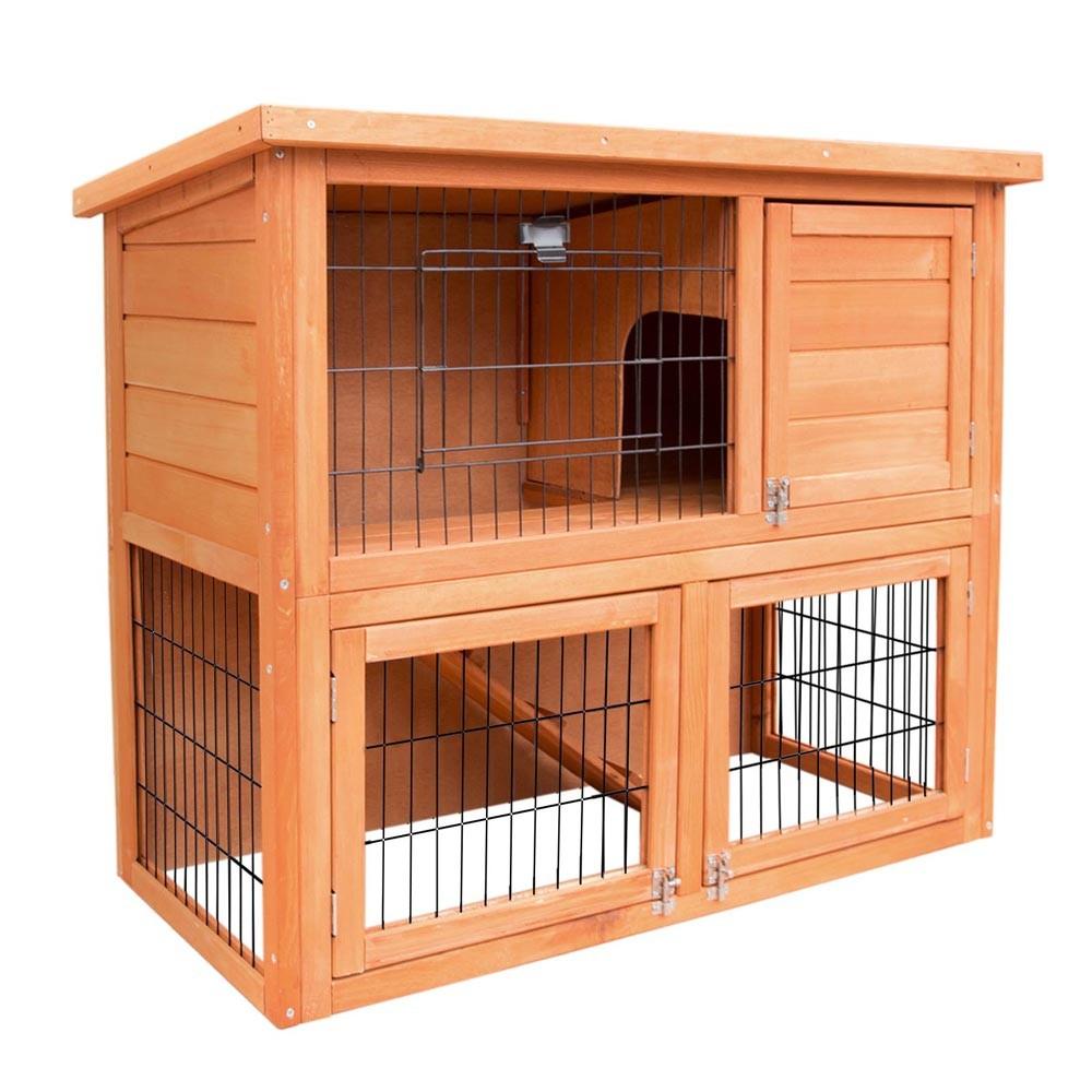 Tal Wooden Pet Coop Double Storey Rabbit Hutch