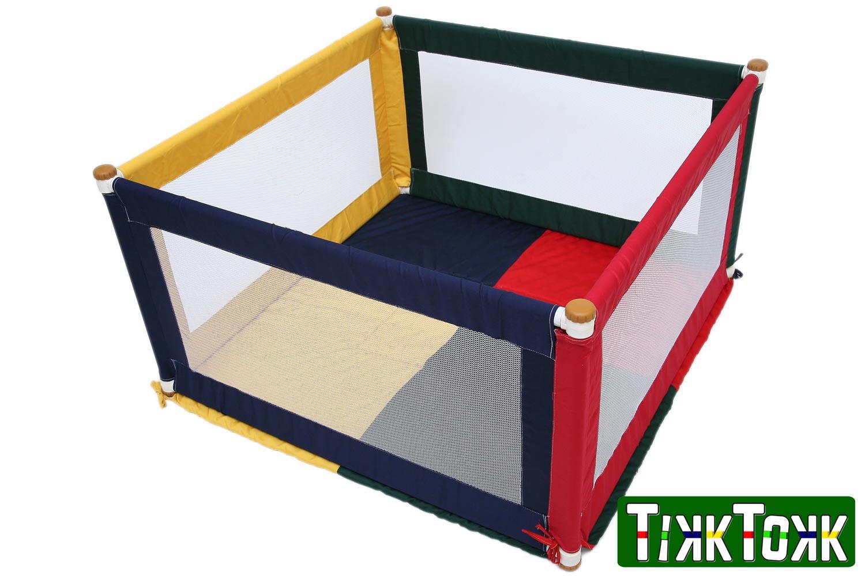 TikkTokk POKANO Fabric Playpen & Mat - SQUARE Colourful