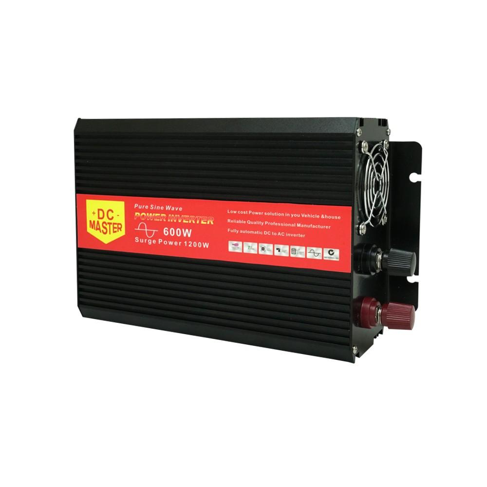 Pure Sine Wave 600W Max 1200W 12V/230V Watt Power Inverter Car Caravan