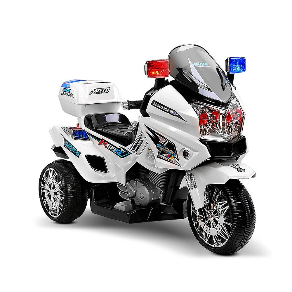 Kids Ride On Motorbike - White
