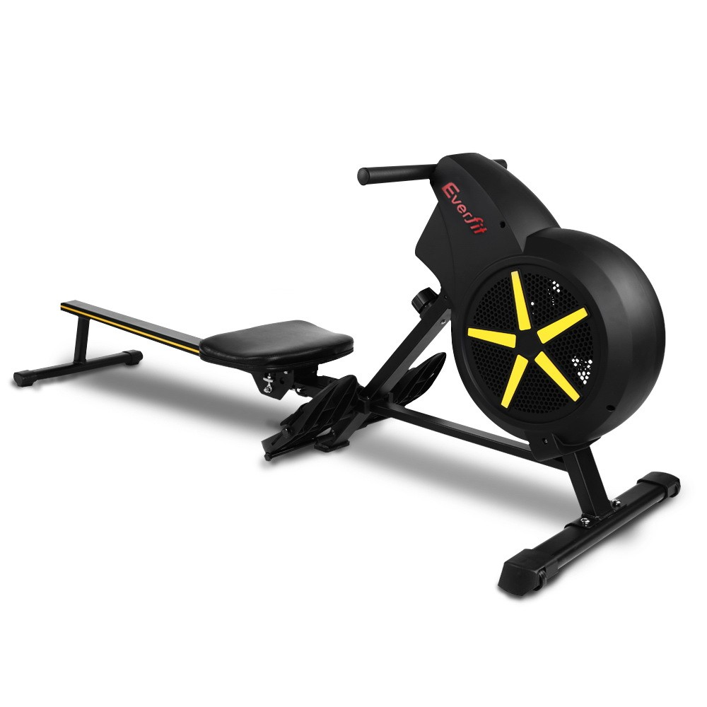 Rowing exercise machine rower resistance home gym cardio air