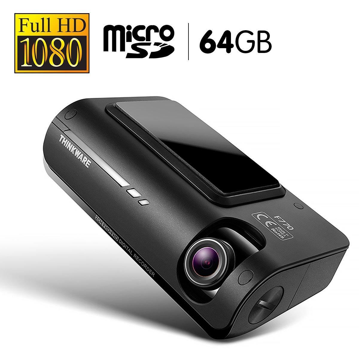 THINKWARE 1080P Full HD Dash Cam With 64GB Micro SD - F77064