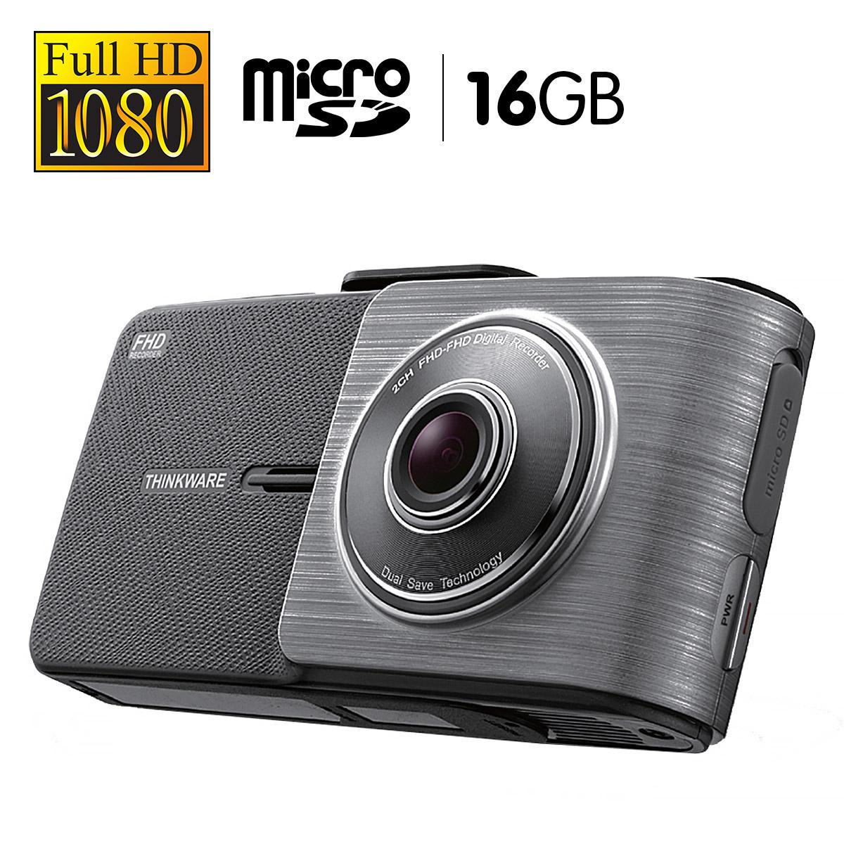 THINKWARE 1080P Full HD Dash Cam With 16GB Micro SD - X55016