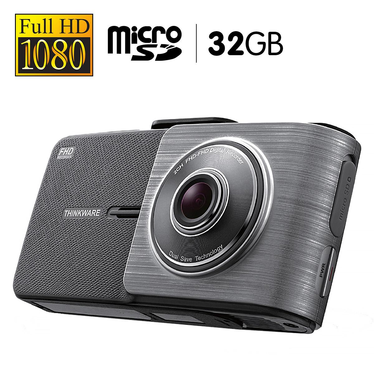 THINKWARE 1080P Full HD Dash Cam With 32GB Micro SD - X55032