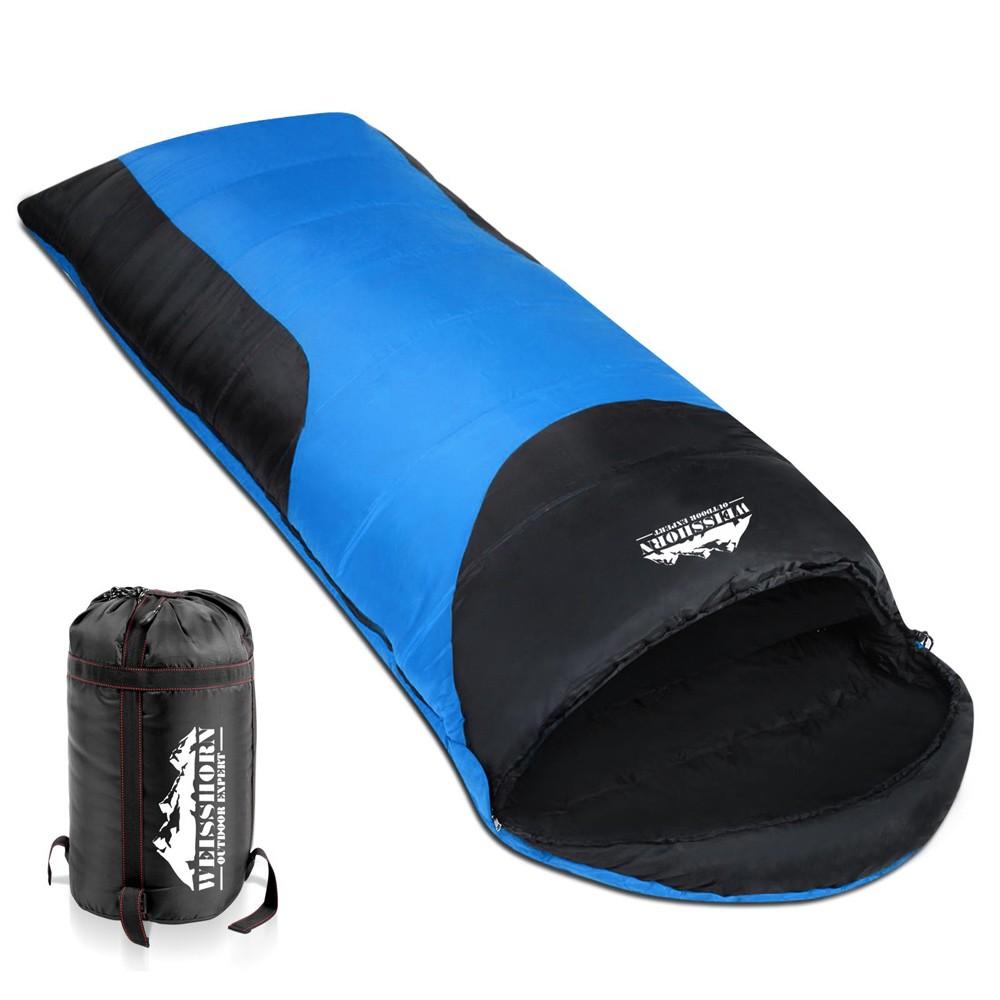 Camping Envelope Sleeping Bag Single Blue Black