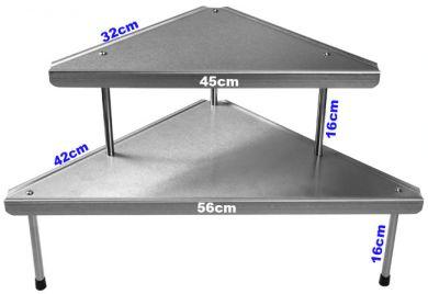 Frost 950-8x8 Stainless Steel 8-in x 8-in Corner Shelf