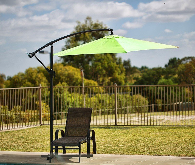Sorrento Outdoor Living Cantilever Umbrella 2.7M - Green