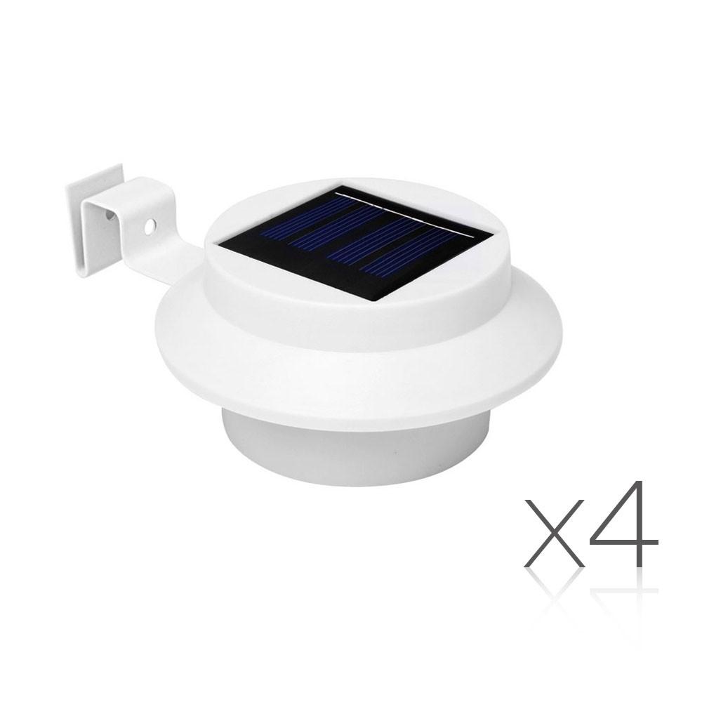 4 x Solar Gutter Lights - White