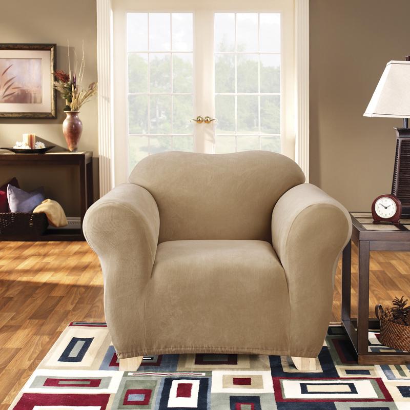 Sure Fit Armchair Pearson Sofa Cover Dark Flax