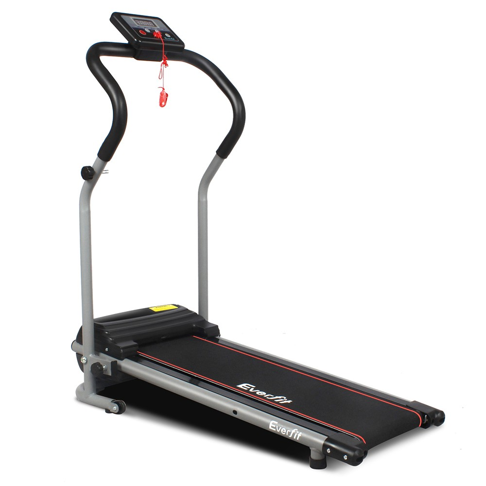 Electric Treadmill Foldable 6 Speed Cardio Exercise Machine - bk