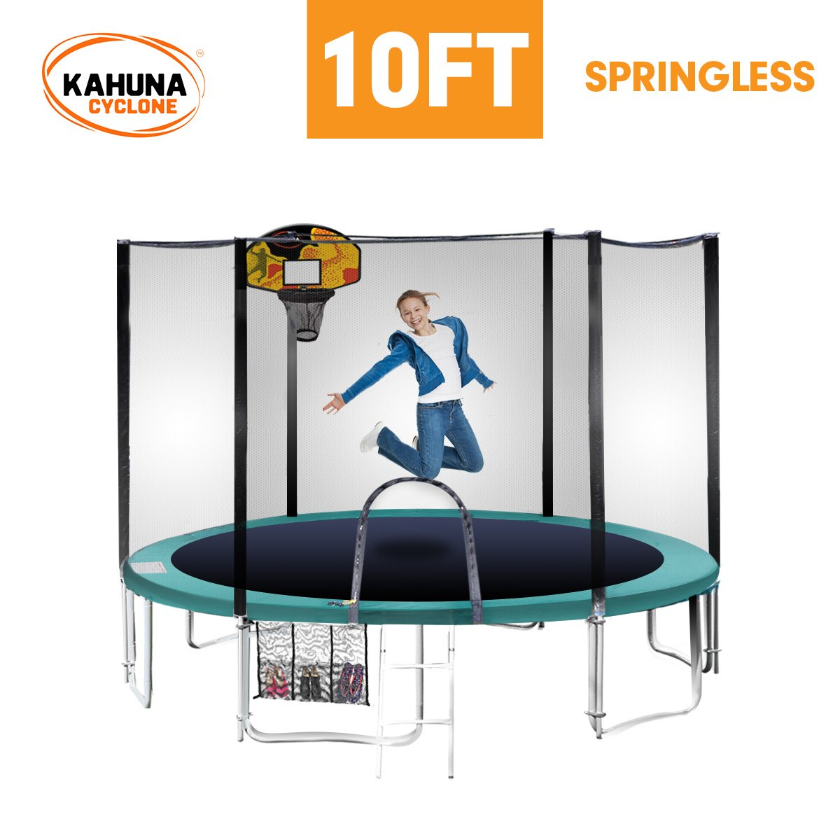 Cyclone 10 ft Springless trampoline with net