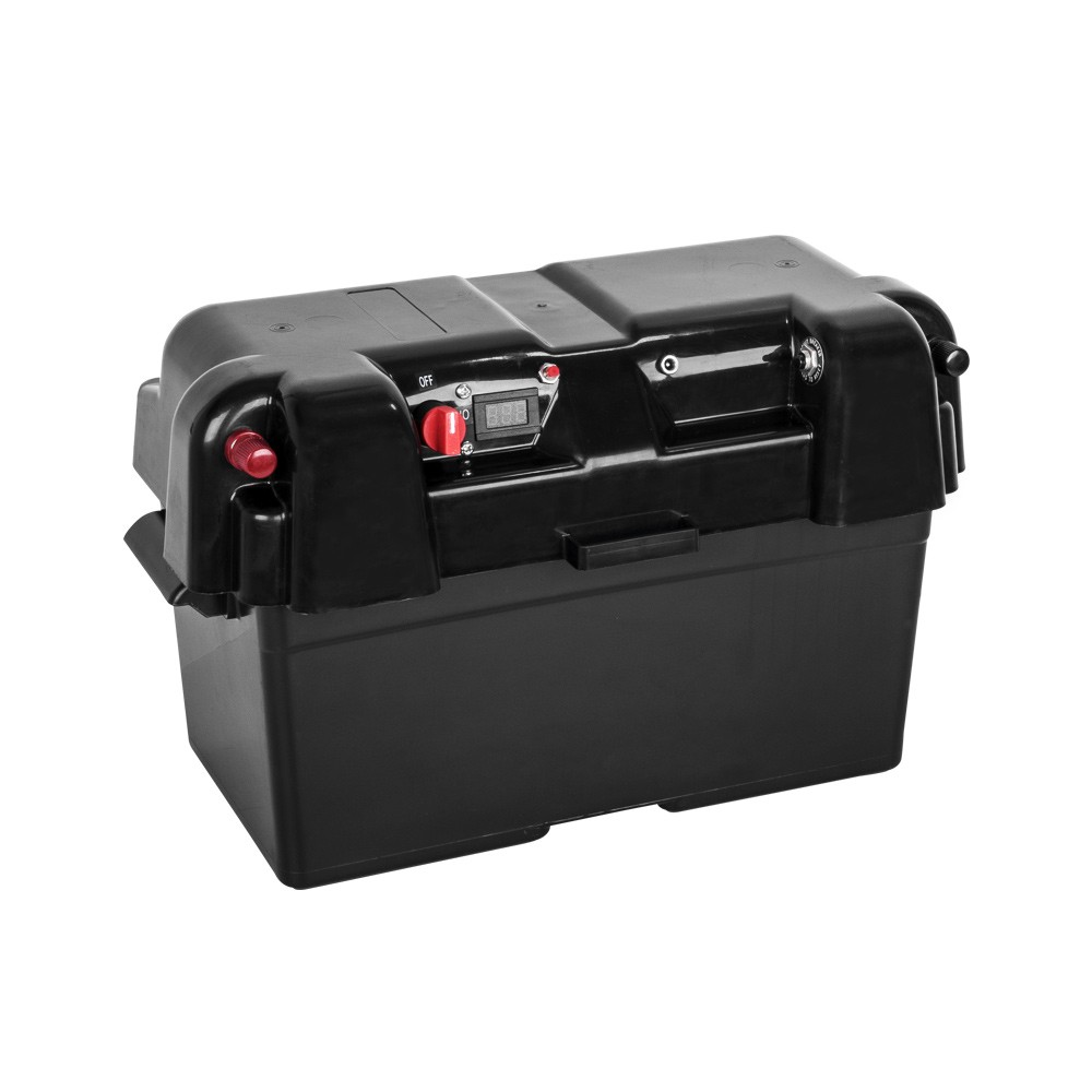 Battery Box AGM Deep Cycle 130AH Dual System 12V 100AH with USB Output