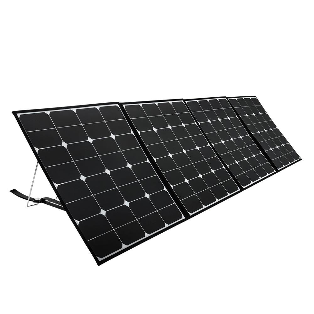 200W Mono Solar Panel Portable Bag Battery Charging Camping 12V