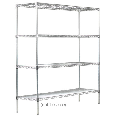 Syncrosteel wire shelving unit 1200x450