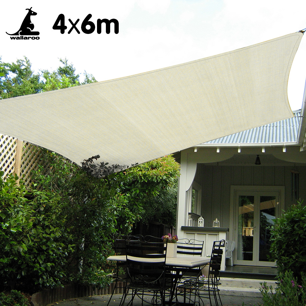 Wallaroo Waterproof Shade sail 4 x 6m Rectangle