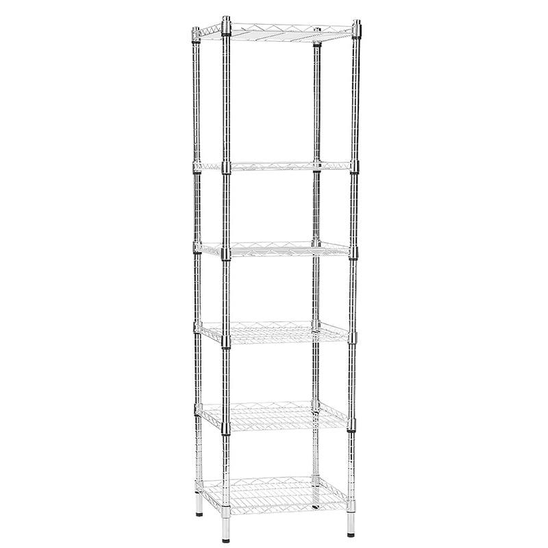 6 level wire shelving unit 600x600